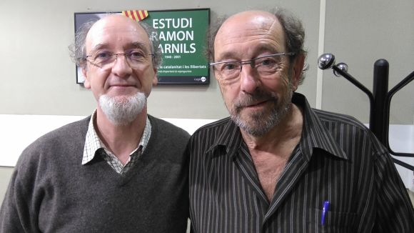 D'esquerra a dreta: Frederic Cabanas i Jaume Espina