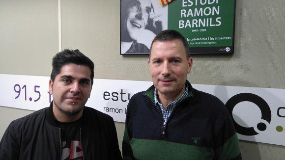 D'esquerra a dreta, Jaume Nicolàs i Rafel Garcia