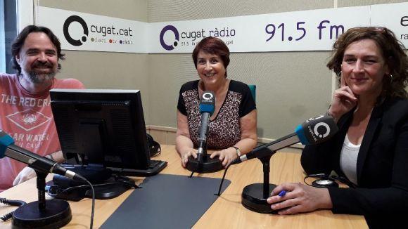 D'esquerra a dreta, Oriol Castellví, Gemma Lienas i Susana García