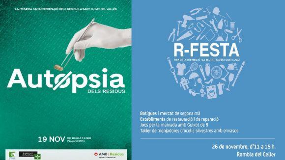 Cartells de les activitats de la Setmana Europea de la Prevenció de Residus / Foto: Web de l'Ajuntament