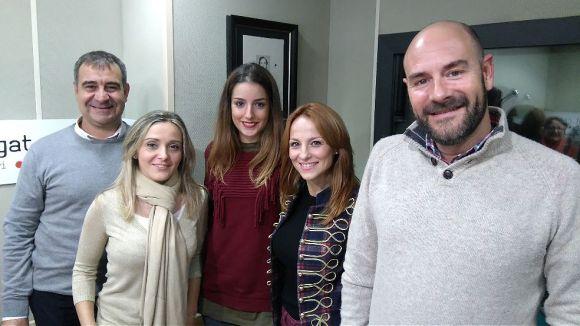 D'esquerra a dreta, Jesús Carballo, Aïda Fernández, Montse Pellicer, Anabel Carrasco i Jordi Bosch