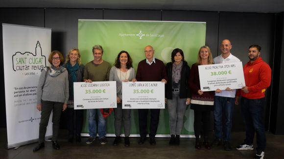 L'Ajuntament entrega 108.000 euros a tres ONG que treballen per ajudar les persones refugiades