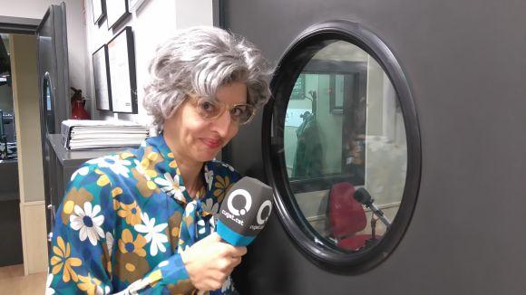 Isabel Castro, a la redacció de Cugat.cat