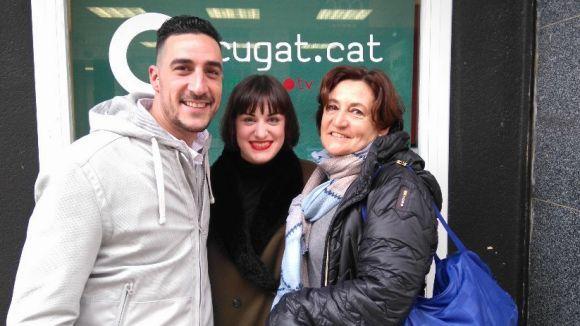 D'esquerra a dreta, Dani Curto, Rosa Carné i Kima Gratacós