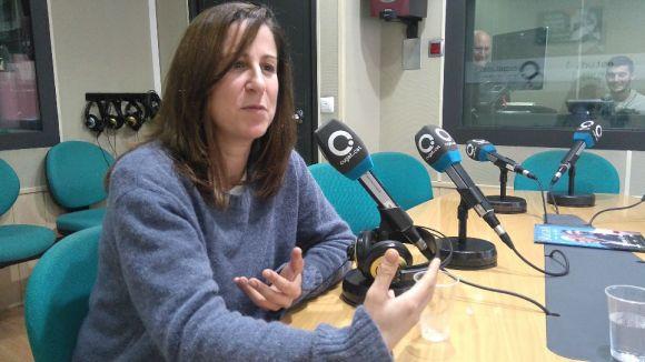 Anna Capdevila en un moment de l'entrevista