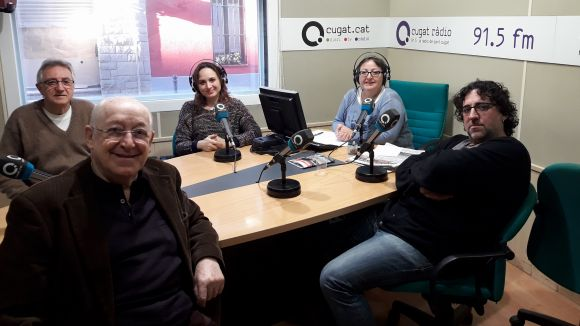 Al fons (d'esquerra a dreta) Víctor Alexandre, Marta Uxan i Carme Reverte. Al davant, Jaume Pla i Cristian Treceño