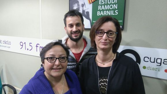 D'esquerra a dreta, Carme Reverte, Guillem Sànchez i Maria Jesús Ibáñez