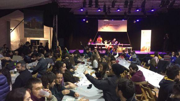 Arrenca el Quinto de Nadal amb la primera sessió a l'Envelat