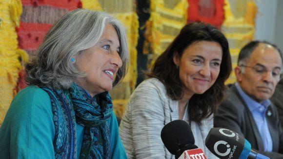 Grau-Garriga, Conesa i Escura en l'acte de presentació de l'acord / Foto: Localpres