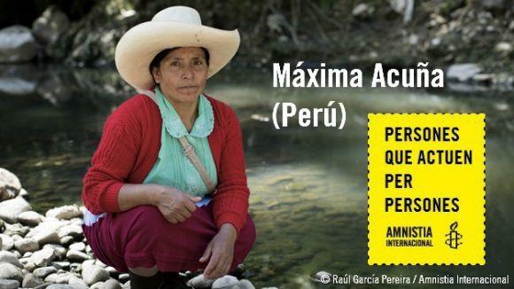 Amnistia Internacional Sant Cugat se suma al suport a l'activista peruana amenaçada Máxima Acuña