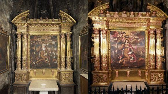 El CRBMC restaura el retaule de Santa Caterina de la Catedral de Girona