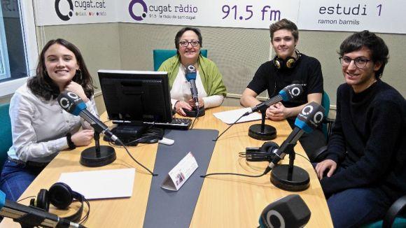 D'esquerra a dreta, Irene Riart, Carme Reverte, Guillem Ruiz i Jaume Claret