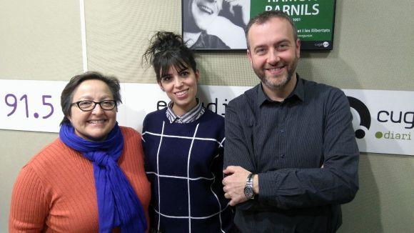 D'esquerra a dreta, Carme Reverte, Laia Pujolassos i Pedro Pardo