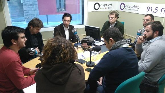 Els tertulians de dimecres amb el moderador, Josep Gimeno