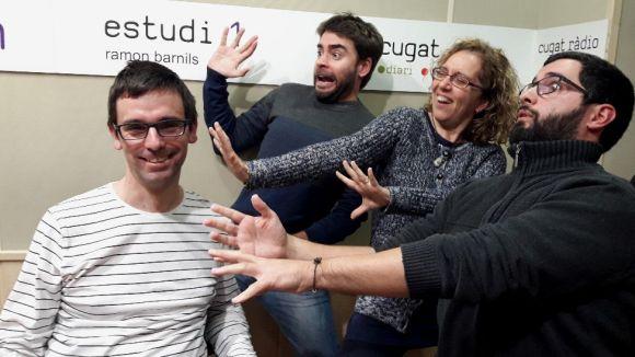 D'esquerra a dreta, Daniel Ruiz-Trilo, David Vila, Cristina Company i Un Tal Pere