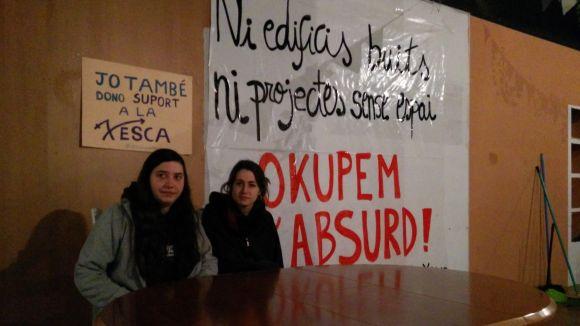 La Xesca lamenta 'l'especulació' que exerceix Banc Sabadell i anuncia una campanya per visibilitzar l'okupació