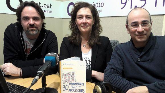 D'esquerra a dreta, Oriol Castellví, Susanna García i Juanjo Fernández