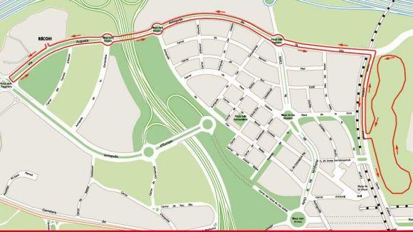 Mapa de les vies afectades / Foto: Web Ajuntament