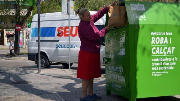 Un dels contenidors de Sant Cugat / Foto: Humana