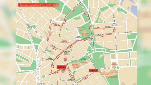 Afectacions al trànsit per la rua dels Tres Tombs d'aquest diumenge