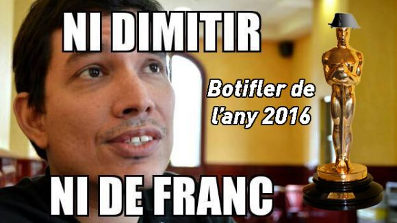 Dimitri Defranc guanya el premi Botifler de l'Any 2016 d'Arran