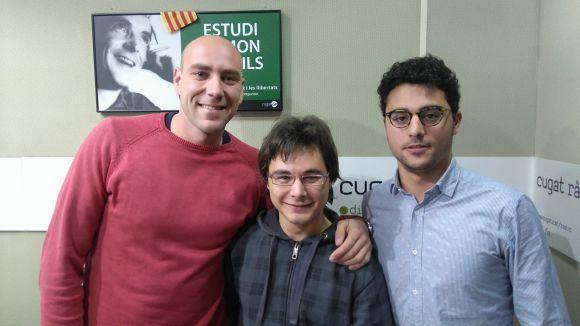 D'esquerra a dreta, Nacho Amiguet, Nicolàs Ferrer i Josep Puig