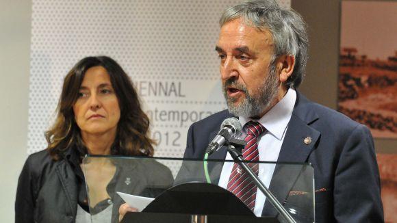 Josep Canals, en primer terme / Foto: Ajuntament de Sant Cugat