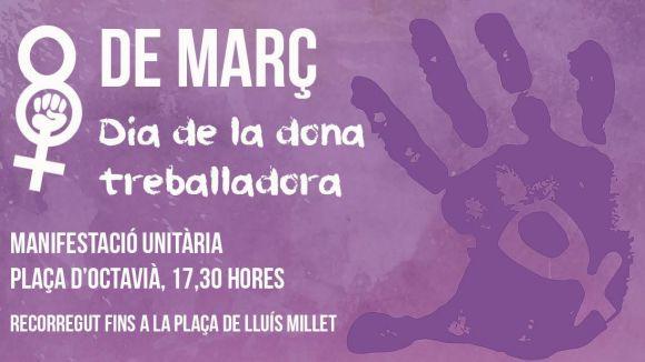 ERC-MES, JERC, ICV-EUiA i Podem celebren el Dia de la Dona Treballadora amb una manifestació unitària
