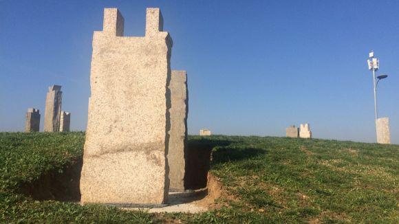 Inauguració de l'escultura de Pep Codó 'La Rosa dels Vents'