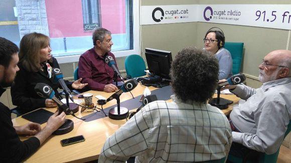 Els tertulians de dilluns amb la presentadora, Carme Reverte