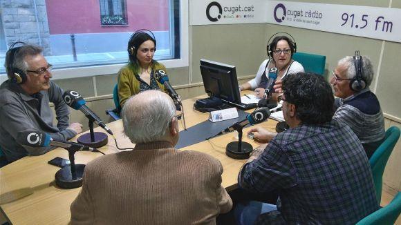 Els tertulians de divendres amb la presentadora, Carme Reverte