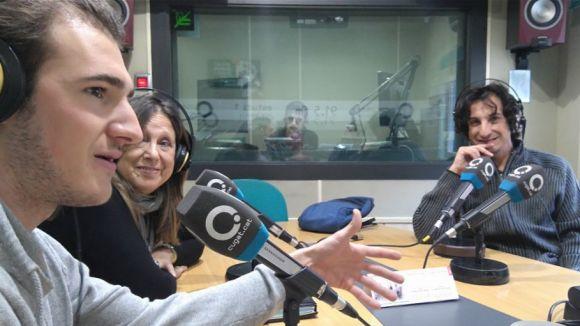D'esquerra a dreta, Sergi Aguilera, Teresa Canas i Roger Casadellà