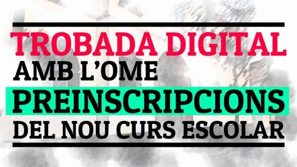 Cugat.cat organitza una trobada digital amb l'OME per resoldre dubtes sobre la preinscripció escolar