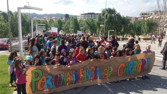 Més de 500 membres d'esplais del Vallès reclamen l'espai públic per al jovent
