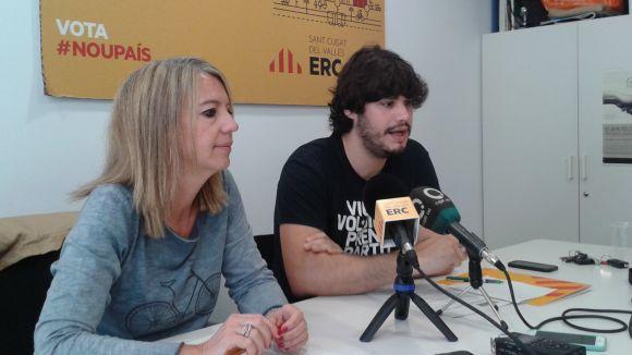 Un moment de la roda de premsa / Foto: ERC-MES