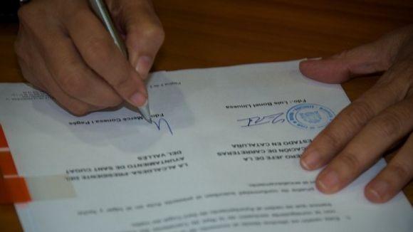L'Ajuntament i Foment formalitzen el traspàs de la gestió de tres vies que   creuen la B-30 a Sant Cugat