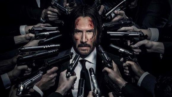L'actor Keanu Reeves en la pell de l'assassí John Wick, a les sales de Sant Cugat