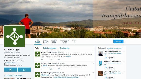 Les xarxes socials de l'Ajuntament mencionaran els partits que proposen les mocions del ple