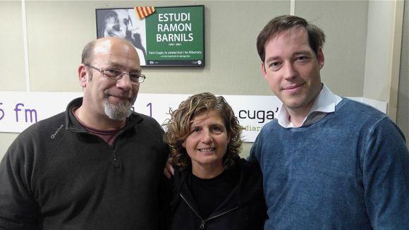 D'esquerra a dreta, Pablo Giménez, Núria Bou i Èric Ricart