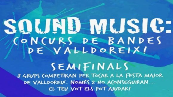 Detall del cartell de les semifinals del concurs / Foto: Facebook Joventut EMD-Valldoreix