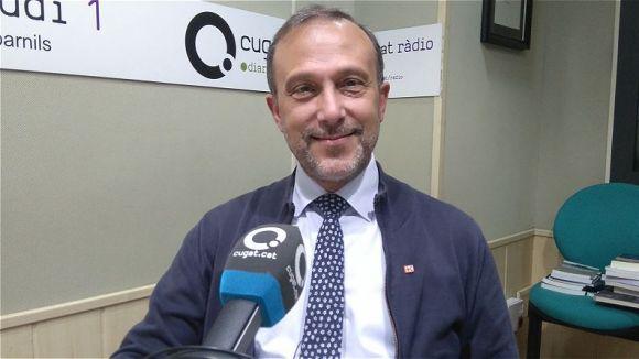 El president de la secció local de Creu Roja, Lluís Carreras, al magazín