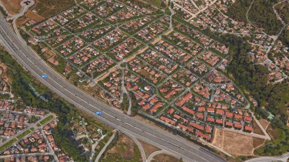 L'AP7 al pas per Mas Gener / Foto: Google Maps
