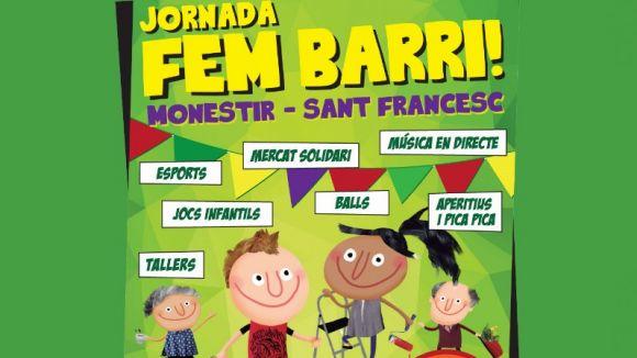 Detall del cartell de la proposta / Foto: Xarxa Monestir-Sant Francesc