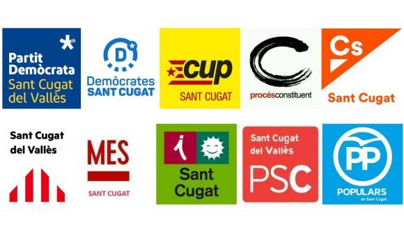 Quants militants tenen els partits polítics amb representació al ple de Sant Cugat?