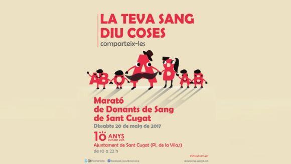 Sant Cugat celebra aquest dissabte la 10a marató de donacions de sang amb una jornada festiva