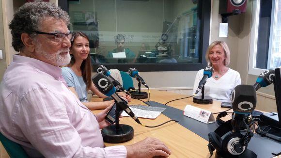 D'esquerra a dreta, Lluís Ribas, Maria Fabre i Mònica Batlle