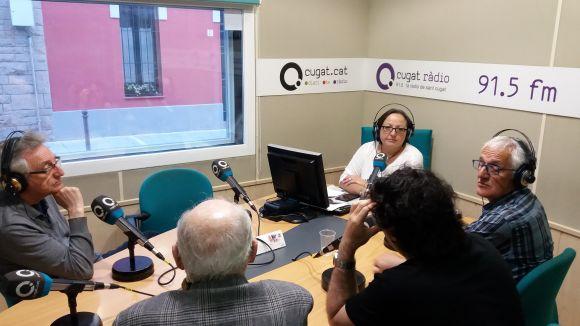 Els tertulians d'aquest divendres amb presentadora, Carme Reverte