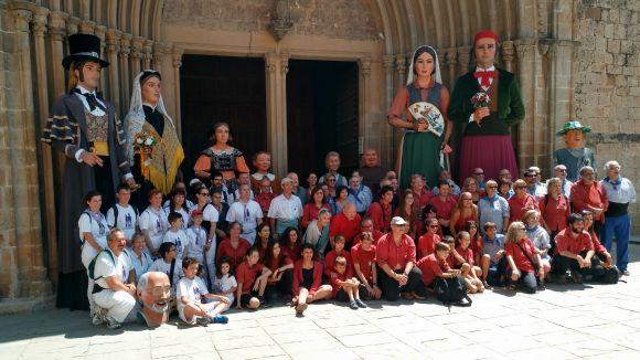 Els Geganters escalfen motors per a la trobada comarcal de diumenge amb padrins i veterans
