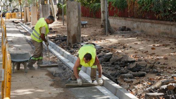 Els plans han donat feina a perfils de brigada d'obres / Foto: Web Ajuntament