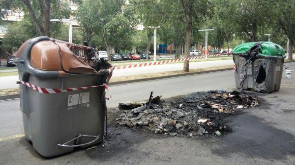 Els contenidors cremats